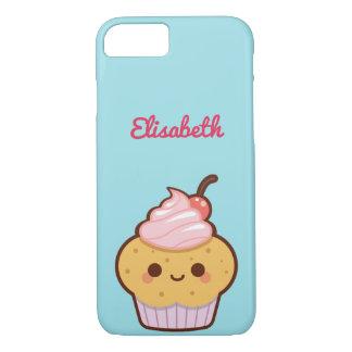 Super cute kawaii sweet cupcake monogram iPhone 7 case