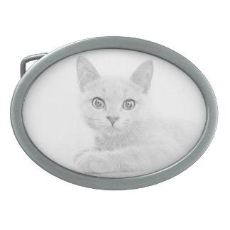 SUPER CUTE Kitten Portrait Photograph Belt Buckle