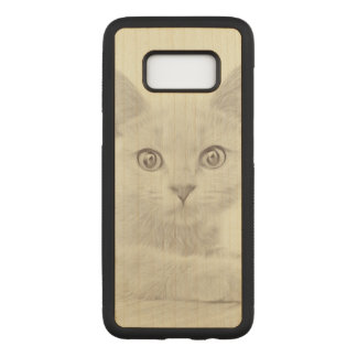SUPER CUTE Kitten Portrait Photograph Carved Samsung Galaxy S8 Case