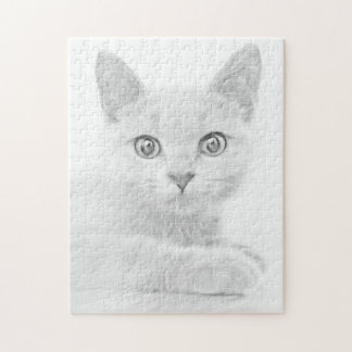 SUPER CUTE Kitten Portrait Photograph Jigsaw Puzzle