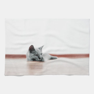 SUPER CUTE Kitten Portrait Photograph Kitchen Towel