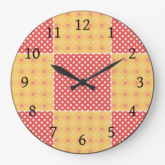 Super Cute Polka Dot Patchwork Wall Clock