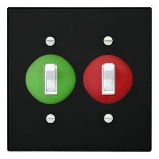 Super Cute Red Green Dots Light Switch Cover