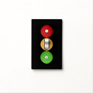 Super Cute Red Yellow Green Dots Light Switch Cover