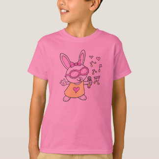 Super Cute Singing Bunny Rabbit T-Shirt