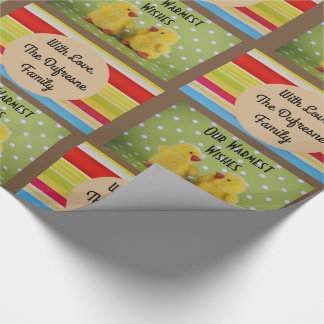Super Cute Spring/Easter Personalized Wrapping Paper
