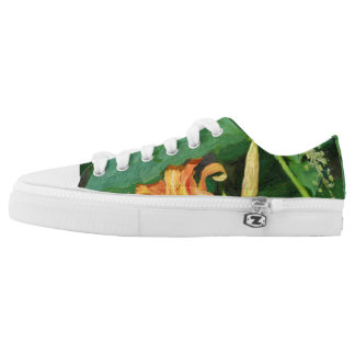 Super Cute Swag Colorful Green Lily Low Top Shoes