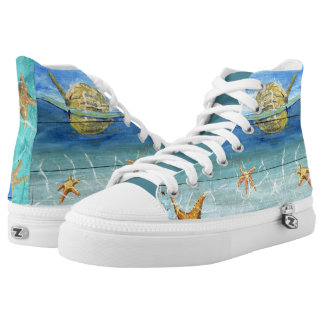 Super Cute Swag Starfish Sky High Top Shoes