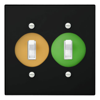 Super Cute Yellow Green Dots Light Switch Cover