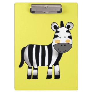 super cute zebra clipboard