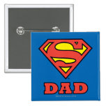 Super Dad 2 Inch Square Button