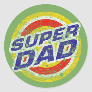 Super Dad Classic Round Sticker