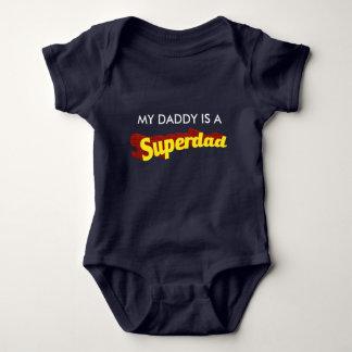 Super Dad dad is my superhero comic text Baby Bodysuit