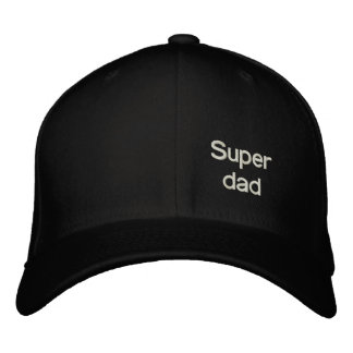 Super dad embroidered hats