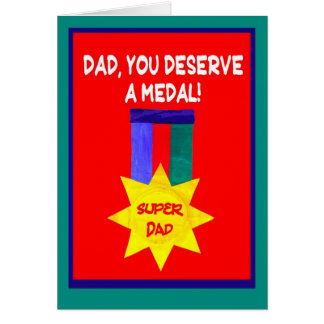 'Super Dad' Father's Day Greeting Card