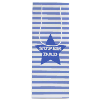 SUPER DAD   Father's   Navy Blue Star Gift Bag