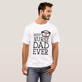 "Super dad Health with quote ""Best Nurse Dad Ever"" T-Shirt"