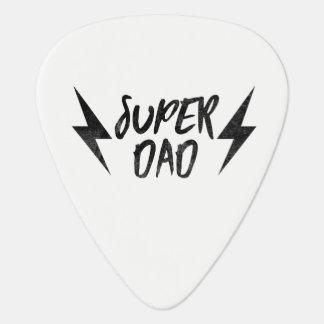 Super Dad Lightning Bolt Rock'n Roll Script Guitar Pick