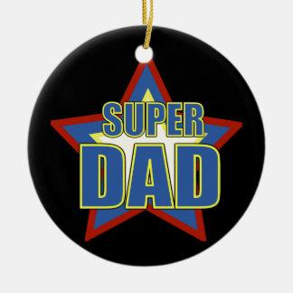 Super Dad/Photo Ceramic Ornament