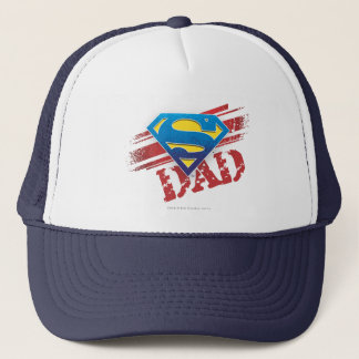 Super Dad Stripes Trucker Hat