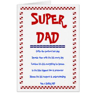 SUPER DAD, SUPER KID CARD