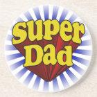 Super Dad, Superhero Red/Yellow/Blue Coaster