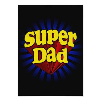 Super Dad, Superhero Red/Yellow/Blue Personalized Invite