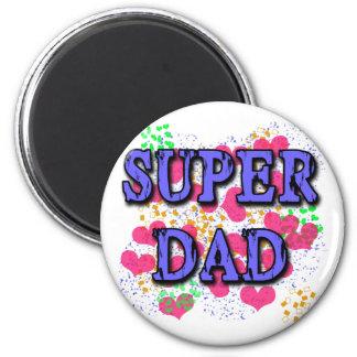 Super Dad Tshirts, Hoodies, Mugs, Gifts 2 Inch Round Magnet