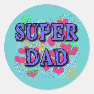 Super Dad Tshirts, Hoodies, Mugs, Gifts Round Sticker