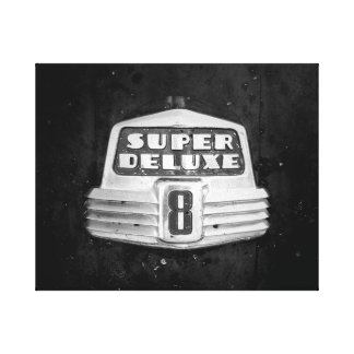 Super Deluxe in Black and White Canvas Print