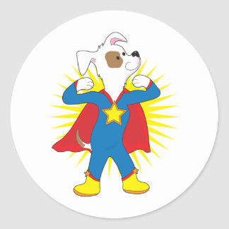 Super Dog Classic Round Sticker