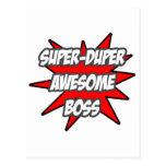 Super Duper Awesome Boss Postcard
