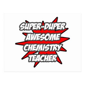 Super Duper Awesome Chemistry Teacher Postcard