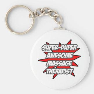 Super Duper Awesome Massage Therapist Basic Round Button Keychain
