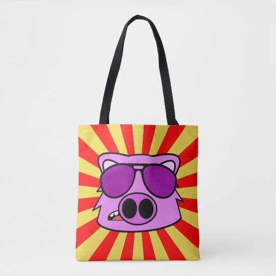 Super Duper Fly Pig Tote Bag