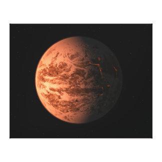 Super Earth Gliese 876 D Terrestrial Planet Canvas Print