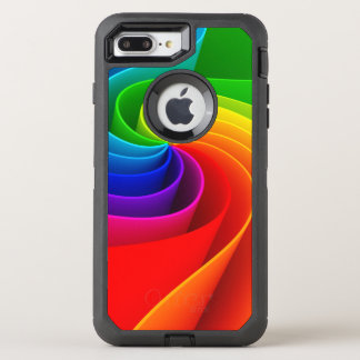 Super Fabulous Rainbow Illustration OtterBox Defender iPhone 8 Plus/7 Plus Case