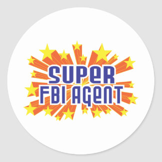 Super FBI Agent Classic Round Sticker