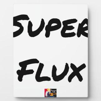 SUPER FLOW - Word games - François City Plaque