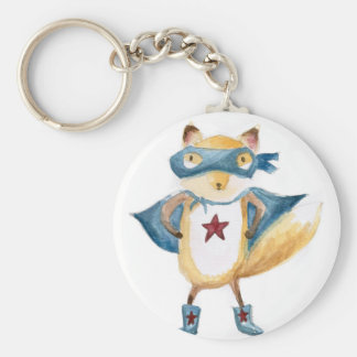 Super Fox! Basic Round Button Keychain