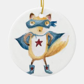 Super Fox! Ceramic Ornament