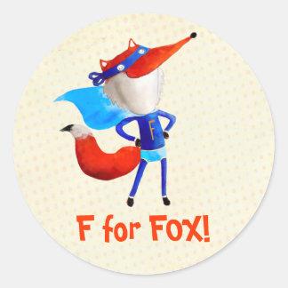 Super Fox Round Sticker