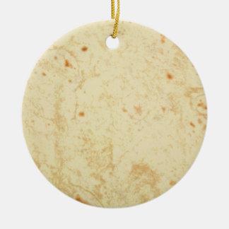 super fresh flour tortilla texture masa bueno ceramic ornament