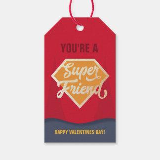 Super Friend Classroom Valentine Gift Tag