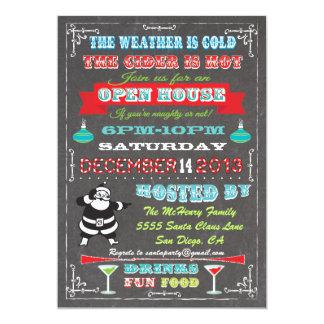 Super Fun Chalkboard Christmas Open House Card