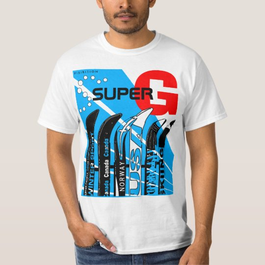 Super-G Ski Winter Sport Snowblade T-Shirt