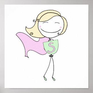 Super Girl Blonde Poster