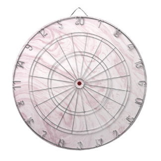 Super Girly PINK Marble Abstract Art Swirl! Dartboard