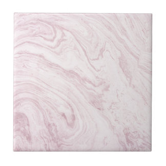 Super Girly PINK Marble Abstract Art Swirl! Tile