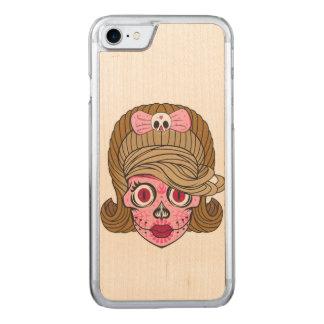 Super Girly Sugar Skull Carved iPhone 8/7 Case